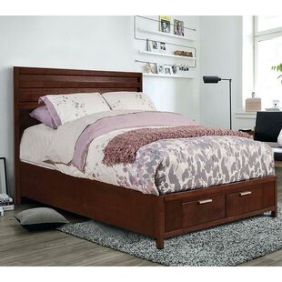 Gaughan Mahogany Wood Storage Panel Bed