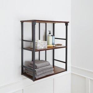 shelves for bathroom. Warren Mixed Material 3 Tier 24  W x 28 H Bathroom Shelf Free Standing Shelving You ll Love Wayfair