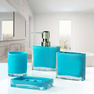 iced 4piece bathroom accessory set