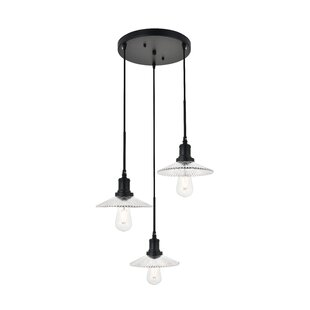 Sequim 3-Light Cluster Pendant by Williston Forge