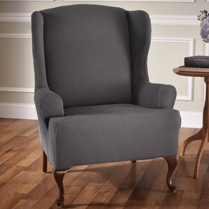 madden stretch tcushion wingback slipcover