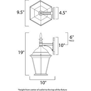 Asherton 1-Light LED Outdoor Wall Lantern