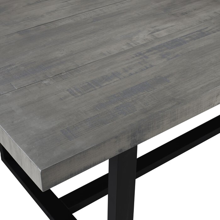 Neely Distressed Solid Wood Dining Table