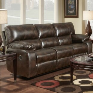 Caroline Leather Reclining Sofa Red Barrel Studio