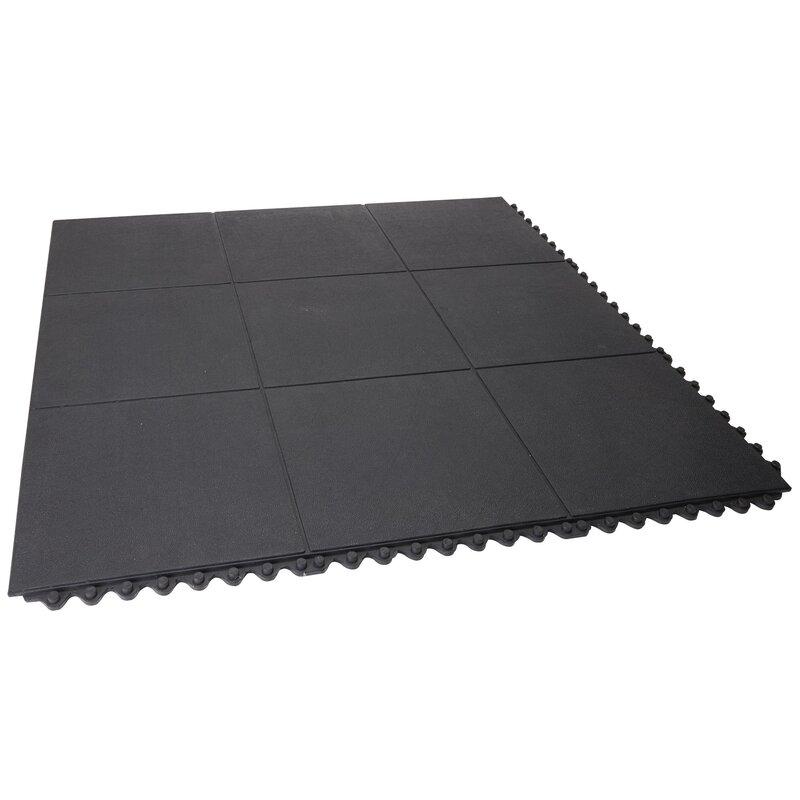 Envelor home heavy duty solid rubber garage flooring tiles in