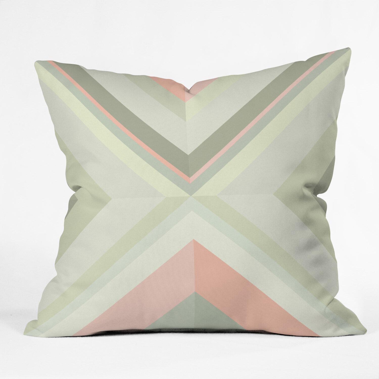 East Urban Home Iveta Abolina Matcha Chevron Throw Pillow Wayfair