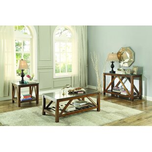 Homelegance Ashby 3 Piece Coffee Table Set