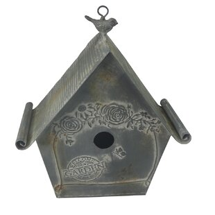 Kingon Hanging Bird House With Embossed Flower Image