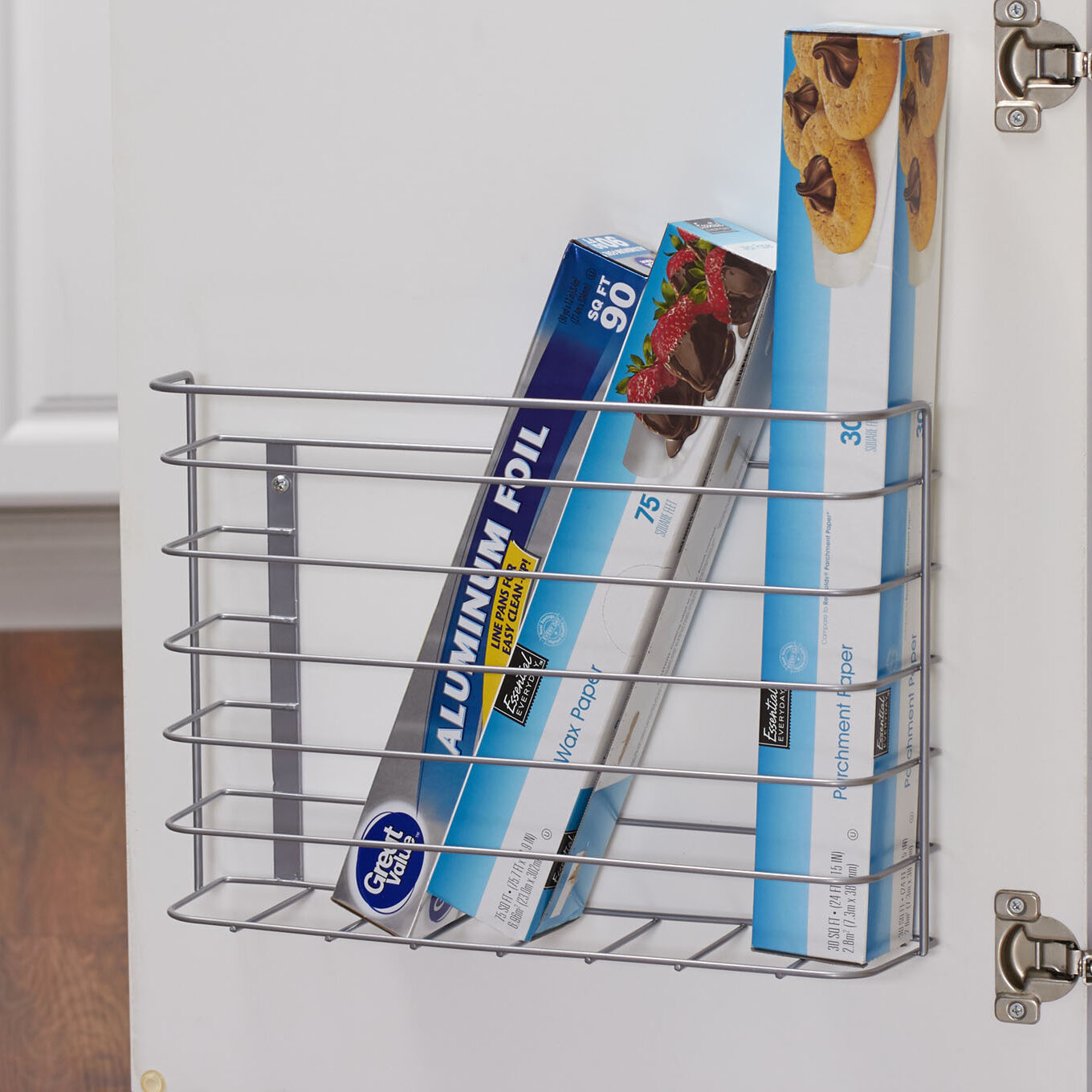 Rebrilliant Chrome Kitchen Cabinet Door Organizer Reviews Wayfair