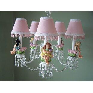 Silly Bear Lighting My Fairy Princess 5-Light Shaded Chandelier