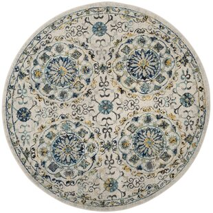 Ameesha Ivory/Blue Area Rug by Bungalow Rose