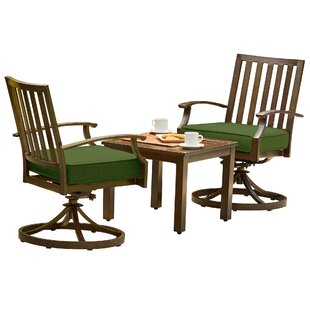 Yandel Bridgeport 3 Piece Bistro Set with Cushions