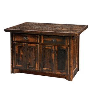 Reclaimed Barnwood Kitchen Island by Fireside Lodge