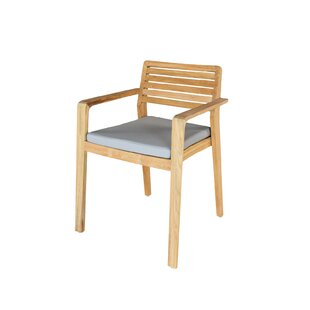 Azu Stacking Garden Chair With Cushion (Set Of 2) By Sol 72 Outdoor