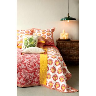 Bungalow Rose Ecklunds Hand-Screened Cotton Bed Quilt