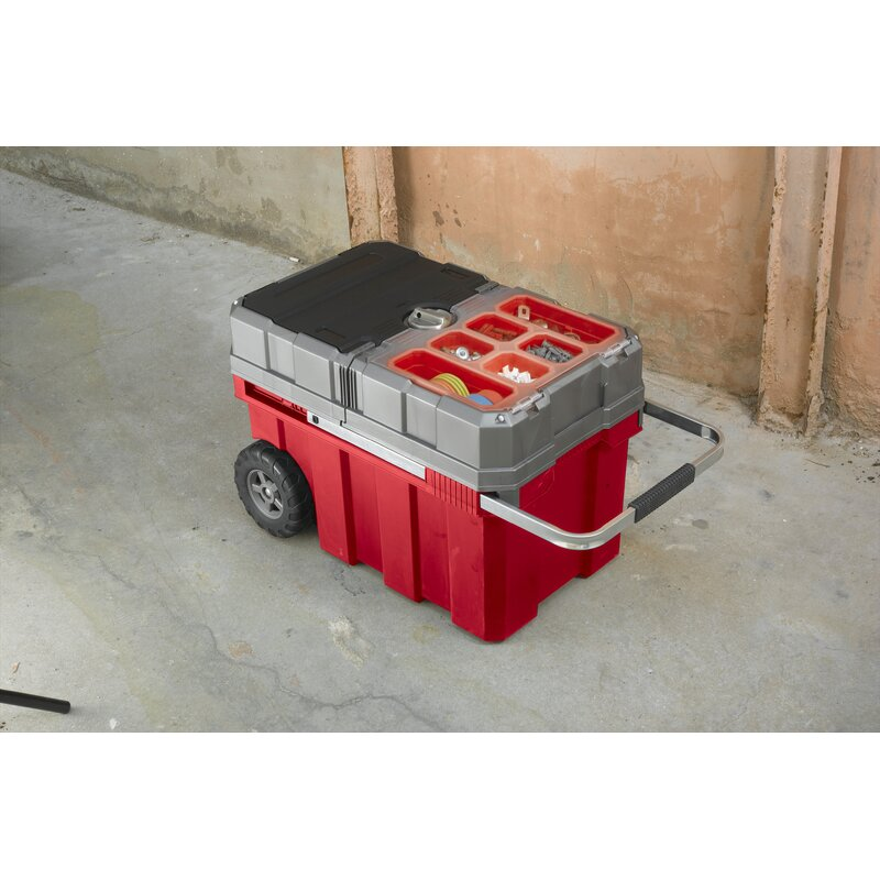 New Masterloader Plastic Portable Rolling Organizer Tool Box Storage Solution