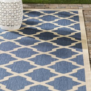 Larson Blue/ Beige Indoor/Outdoor Area Rug