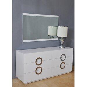 Salia 6 Drawer Dresser with Mirror by Orren Ellis