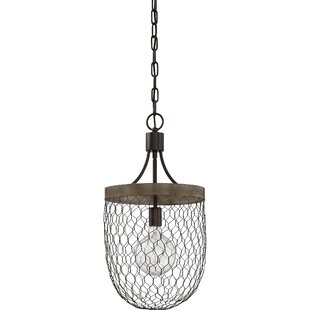Gracie Oaks Brynn 1-Light Bowl Pendant