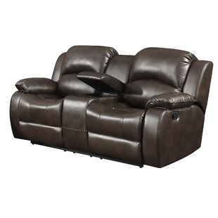 Shop Case Leather Reclining Loveseat by Alcott Hill