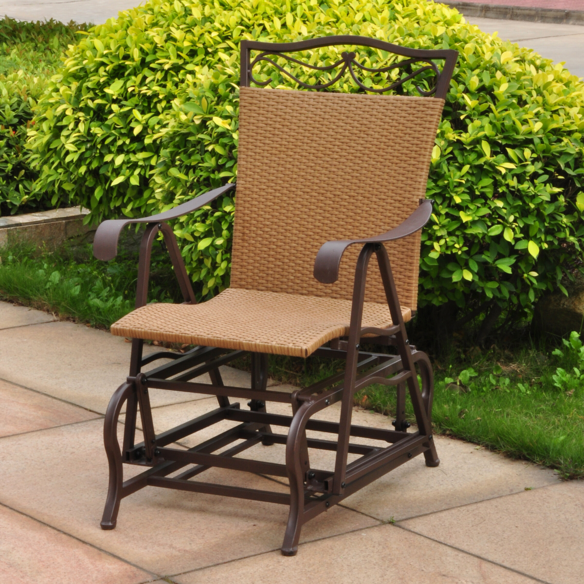 Exceptionnel Three Posts Meetinghouse Single Glider Chair U0026 Reviews | Wayfair