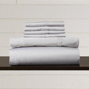 Hiram 600 Thread Count 6-Piece Egyptian Quality Cotton Sateen Deep Pocket Sheet Set