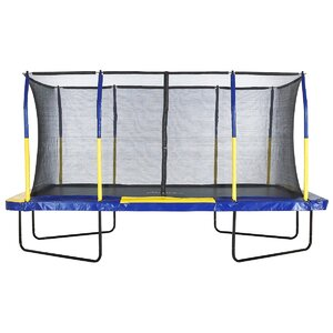 Spacious 9' x 15' Rectangular Trampoline with Fiber Flex Enclosure