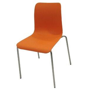 Slope Shell Side Chair Orange   Wayfair