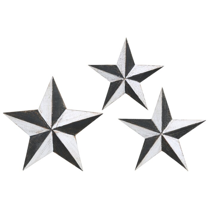 3 Pieces Metal Star Wall Décor Set