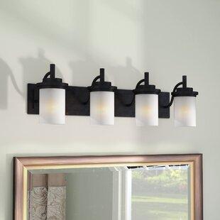 Dashiell 4-Light Glass Shade Vanity Light ByThree Posts