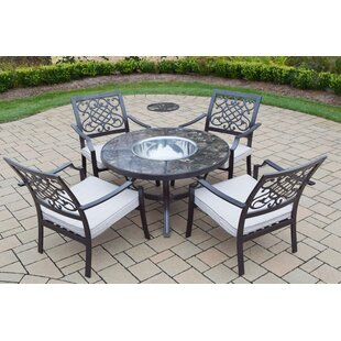 Oakland Living 5 Piece Conversation Set with Cushions