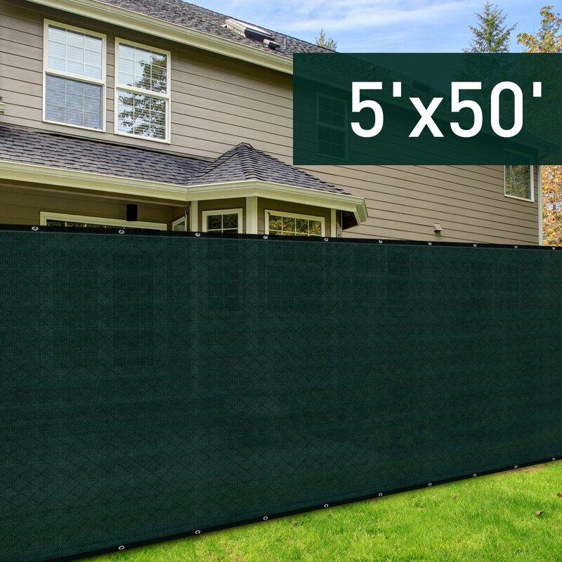 W Sun Shade Backyard Privacy Screen