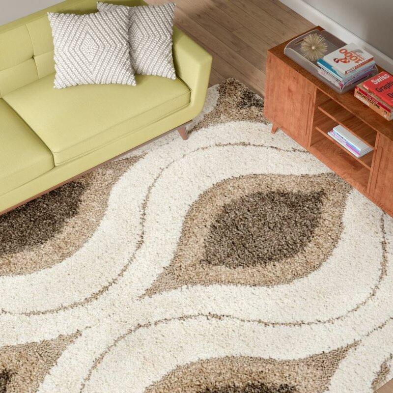 fulton creamgray shag area rug