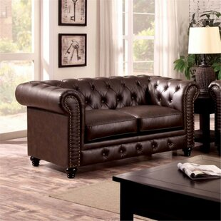 Flounder Chesterfield Loveseat by Darby Home Co Cheap