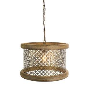 Gracie Oaks Waguespack Hanging Lamp 1-Light Drum Pendant