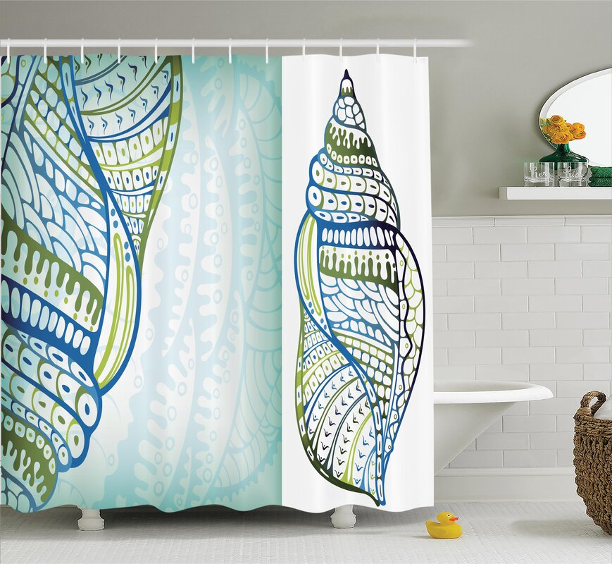 Snail Seashell Shower Curtain