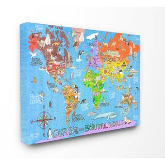 on canvas world maps for sale