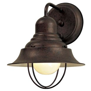 Compare prices Key Vista Modern 1-Light Outdoor Barn Light By Breakwater Bay