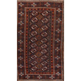 Ayita Balouch Afghan Antique Oriental Hand-Knotted Wool Red/Black/Brown Area Rug ByBloomsbury Market