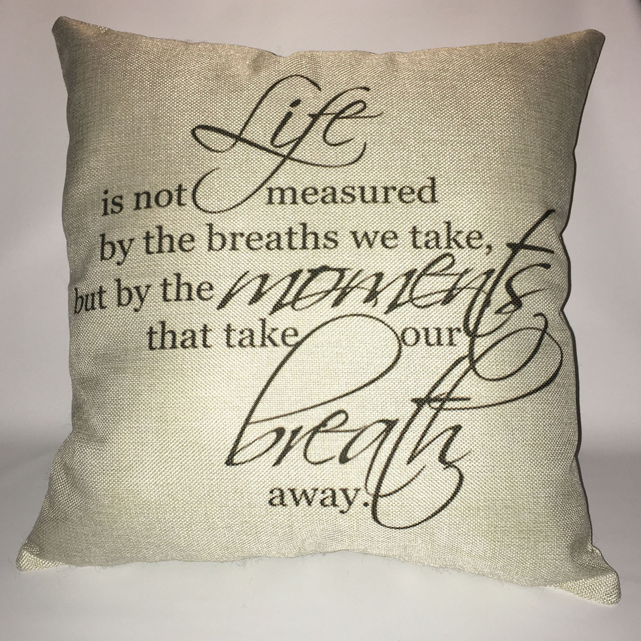 Red Barrel Studio Kendrick How Is Life Measured Breath Cotton Throw Pillow Reviews Wayfair