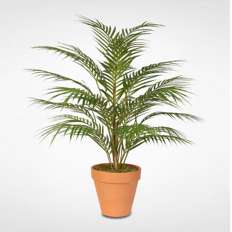 Bayou Breeze Artificial Floor Areca Palm Plant In Pot Wayfair
