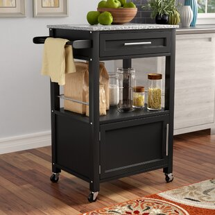 Elsie Kitchen Cart with Granite Top Andover Mills