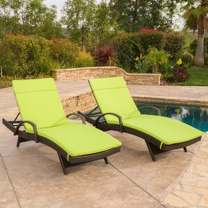 Luther Chaise Lounge With Cushion (Set Of 2)