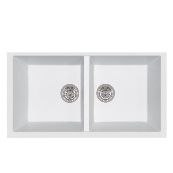 Bathroom Sinks Double Basin latoscana elegance series double basin undermount bathroom sink