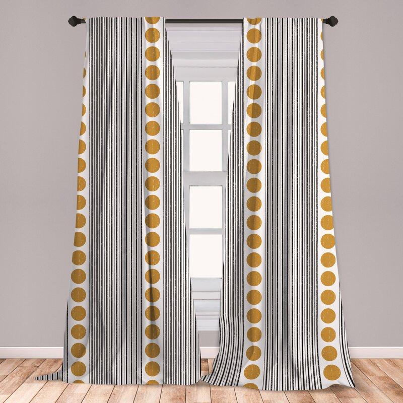 East Urban Home Striped Room Darkening Rod Pocket Curtain Panels Reviews Wayfair