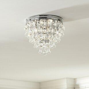 Willa Arlo Interiors Devanna 3-Light Flush Mount