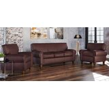 Bailey 3 Piece Leather Living Room Set by Westland and Birch