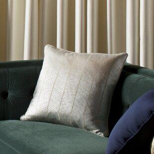 Calista Herringbone 100% Cotton Throw Pillow