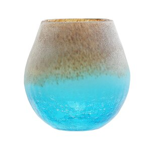 Frosted Hand Blown Glass Vase