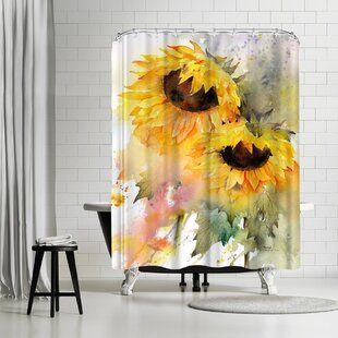 Affordable Rachel McNaughton Sunflower Duo Shower Curtain By East Urban Home